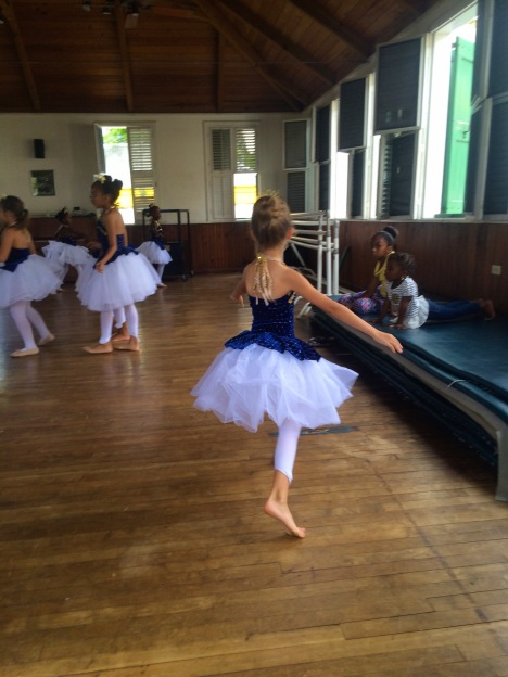 Young dancers preparing for the annual show in the Caribbean Dance studio in Christiansted. Support the arts on St. Croix!